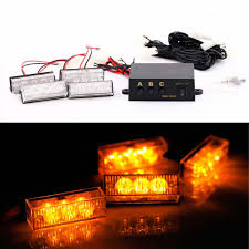 12 LED Amber Emergency Vehicle Strobe Lights Car Flash Warning ... 4led Light Bar Beacon Vehicle Grill Strobe Emergency Warning Flash Umbrella Inspirational High Power 1224v 20led Super Bright Caution Hazard Safety Bars 55 Inch 1 4m 104 Led Castaleca Car Truck Trailer Side Marker Strobe Lights Amber 12 Led Kacowpper 6 Nwhosale New 2 X 48 96led Flashing Lights Buyers 8892000 Set Of 5 9 Marker With