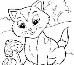 Printable Kitten Coloring Pages Kittens Page Baby Cute Hello Kitty Christmas To Print