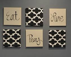 Canvas Wall Art For Dining Room by Eat Pray Love Art Etsy
