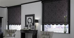 Check Out Baroque Plum Black Roller Shades