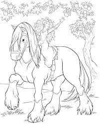 Printable Coloring Pages Horses Horse Jumping Colouring Or On Realistic Jumpi