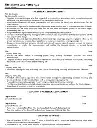 Administrative Assistant Resume Sample Template Page 2