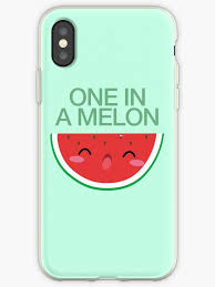 One In A Melon Cute Kawaii Food Drawing Doodle Case Shirt By Hypewearco