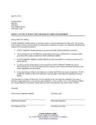 letter of intent to purchase business template letter of intent