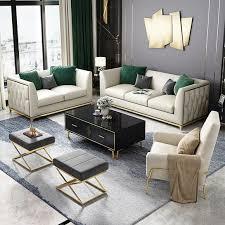 sofa polster sitz garnitur stoff wohnzimmer sofas set 2tlg hocker 3 1 neu