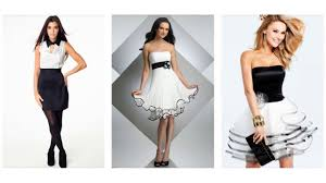 top 100 most beautiful black and white cocktail dress for women