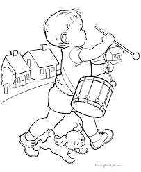 Coloring Pages Printable Band Puppy Drawings To Color And Print Dog Boy House Walking Music