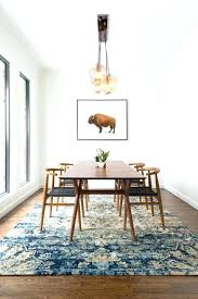 Rectangular Rug Round Table Dining Area Rugs Room Best Material
