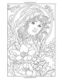 Image Result For Creative Haven Vintage Christmas Greetings Coloring Book