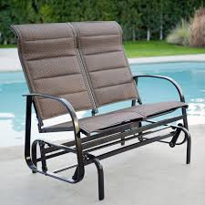 Patio Furniture Slings Fabric by Coral Coast Del Rey Padded Sling Outdoor Glider Chair Bronze