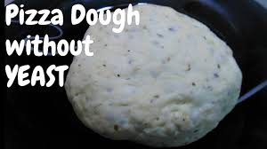 Pizza Dough Without Yeast How To Make No Recipe Eggless Baking