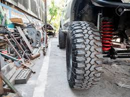100 Front Wheel Drive Trucks Closeup And Suspension Of The Fourwheel Pickup