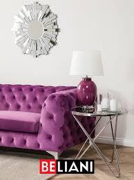 elegantes sofa im chesterfield stil deko wohnzimmer modern