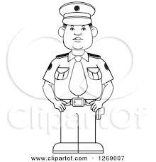 Nice Cop Clipart Black And White ClipartXtras
