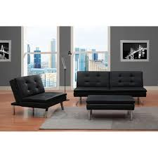 Walmart Sectional Sofa Black by Chelsea 3 Piece Living Room Set Black Walmart Com