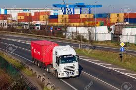 100 Truck It Transport DUSSELDORF GERMANY FEBRUAR 16 On The Highway