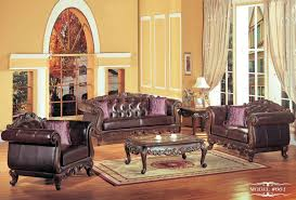 Country Style Living Room Ideas by Chair Adorable Brown Leather French Country Sofa With Area Rug