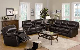 reclining leather sofa set centerfieldbar and recliner sets