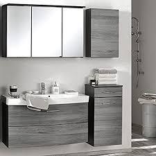 badmöbel set 4 teilig in eiche rauchsilber badezimmer