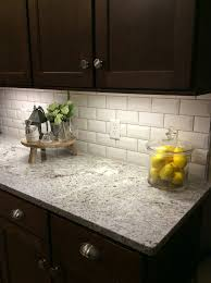 Beveled Tile Inside Corners white ice granite white subway tile with gray grout kitchen