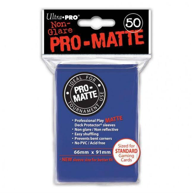 Ultra Pro Pro-Matte Standard Deck Protectors - Pack of 100, Blue