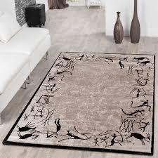 teppich preiswert afrika jäger design beige braun