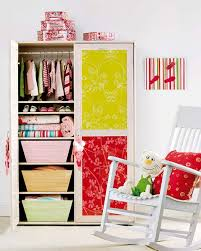 Applying Craft Paper To Wardrobes Door Is A Simple DIY Way Spice Up Plain