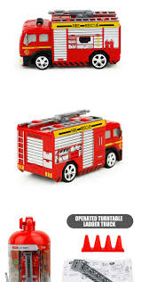 Hot Sale Mini Size 4 Ch Rc Fire Truck Toy With Barrier - Buy Toy ...