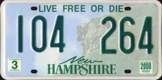 Vehicle registration plates of New Hampshire