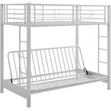 walker edison twin over futon bunk bed white bbtofwh best buy