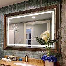 ctf0088d bad led wand spiegel bad führte spiegel waschraum led smart spiegel wc anti nebel touchscreen spiegel 110 v 220 v