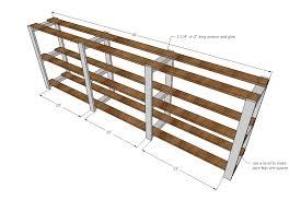 ana white easy wood slat swedish style shelving diy projects