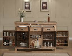 dining room oak wood locking liquor cabinet with drawers on cozy
