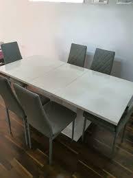 esszimmer esstisch tisch ausziehbar mit 6 stühlen komplett set