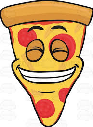 Slice Cheese Pizza Smiling With Teeth Out Emoji