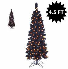 Black Artificial Christmas Trees Halloween Decorations