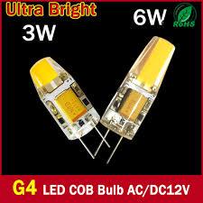 bright g4 led 12v l dc ac 12v cob led bulb light 3w 6w