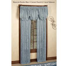 Lace Curtains Panels With Attached Valance by Mia Damask Lace Window Treatment