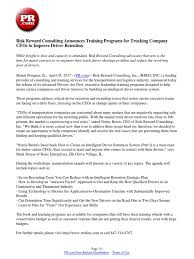 Risk Reward Consulting Announces Training Programs For Trucking ...