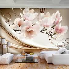 details zu vlies fototapete magnolien blumen rosa beige tapete wandbilder wohnzimmer 46