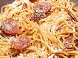 original italienische spaghetti calabrese