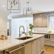 nickel and glass square pendant lights design ideas
