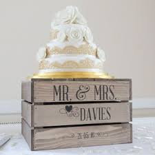 Personalised Rustic Wedding Cake Stand Vintage By Applecratescouk