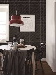 4 linear glossy black triangle tile pattern for kitchen wall