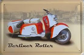 blechschild 20x30cm berliner roller