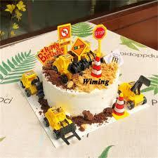 großhandel kuchen topper geburtstag autos geschenke kinder kinder spielzeug bagger baufahrzeug geburtstagsgeschenke dekoration cupcake topper