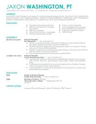 Doctor Cv Template Physical Therapist Resume Example Amazing Medical Examples Healthcare Contemporary 4