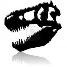 T Rex Dinosaur Pumpkin Stencil by Dinosaur Skeleton Head Clipart