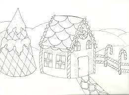 Gingerbread House Coloring Pages Pr
