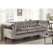 Armen Living Barrister Sofa by Best 25 Grey Velvet Sofa Ideas On Pinterest Gray Velvet Sofa